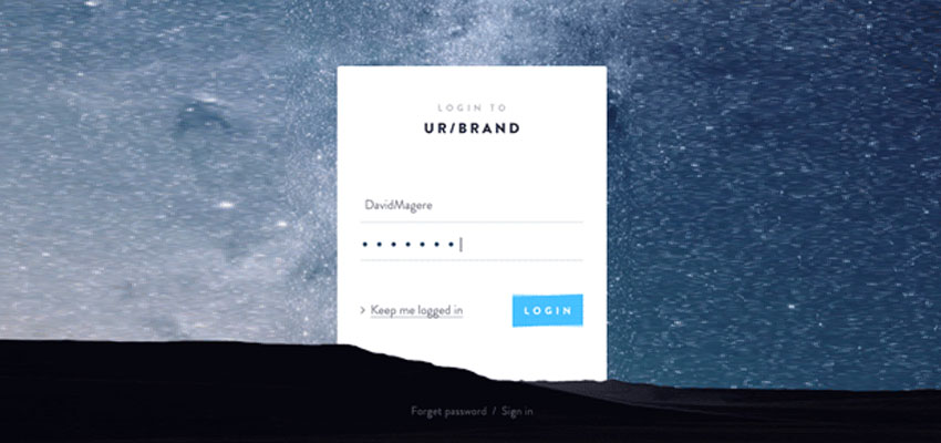 Login page Idea - Free PSD
