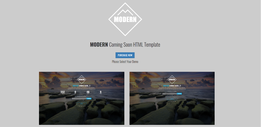 Mountain - Responsive Coming Soon