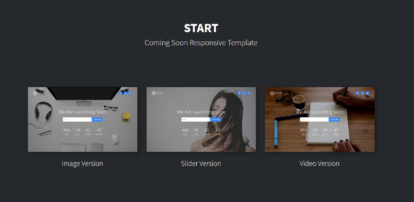 Relax - Coming Soon Template