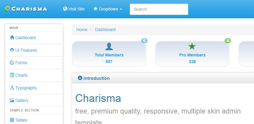 Charisma Responsive Admin Template