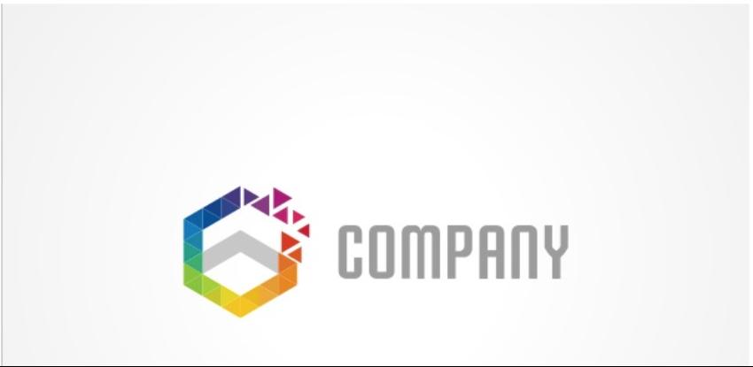 6-Colorful Hexagon Logo
