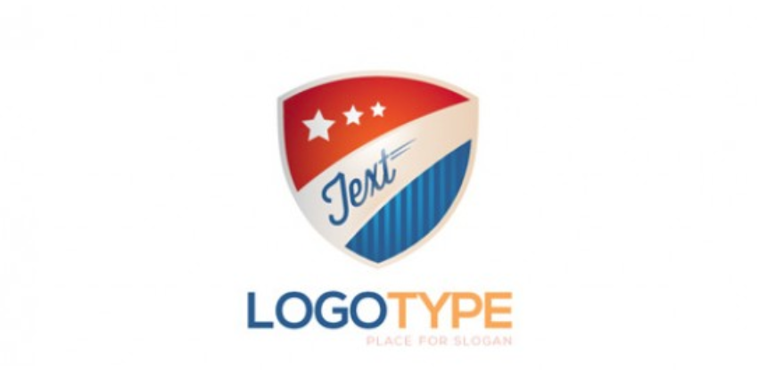 25-Free shield logo PSD template