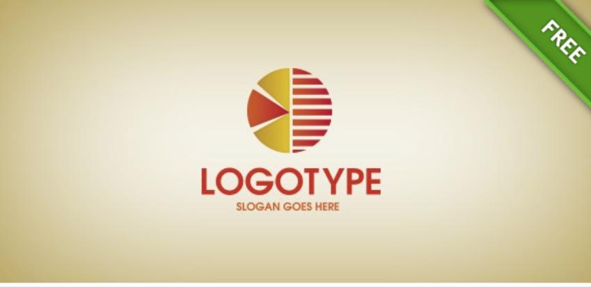 27-Statistics Pie Chart Logo Template Freebie