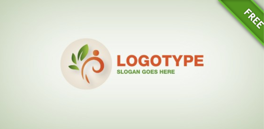 28-Flower Element Vector Free Logo Design Template