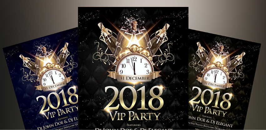 2018 NYE VIP Party - PSD Flyer