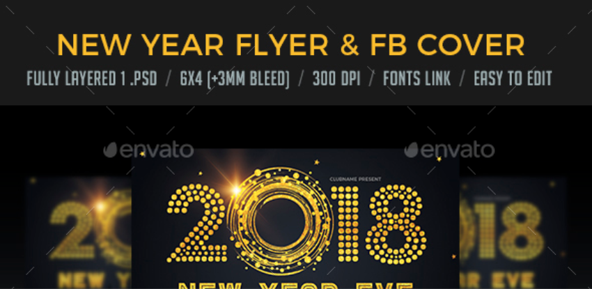 New Year Eve Flyer & FB Cover