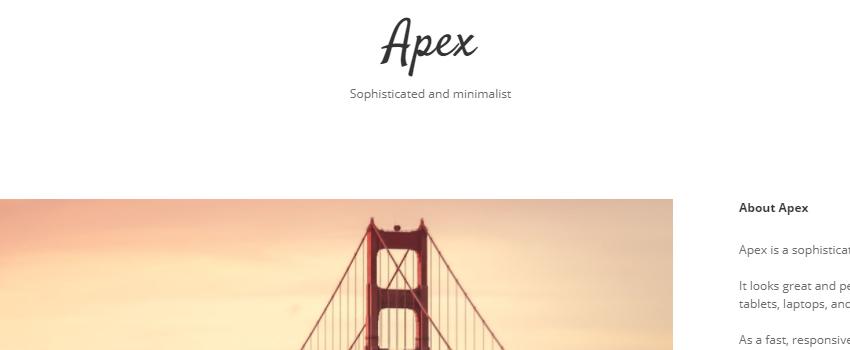 Apex – Blog Theme