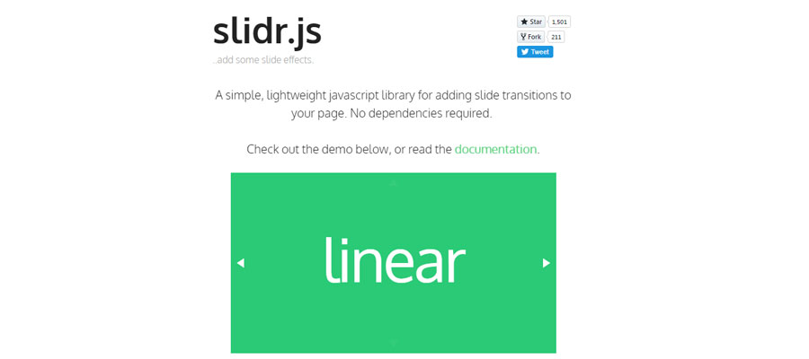 Slidr.js – JS library for creating slides