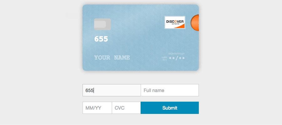 Credit card form – JS plugin