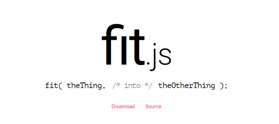 Fit.js – Fit things into other things