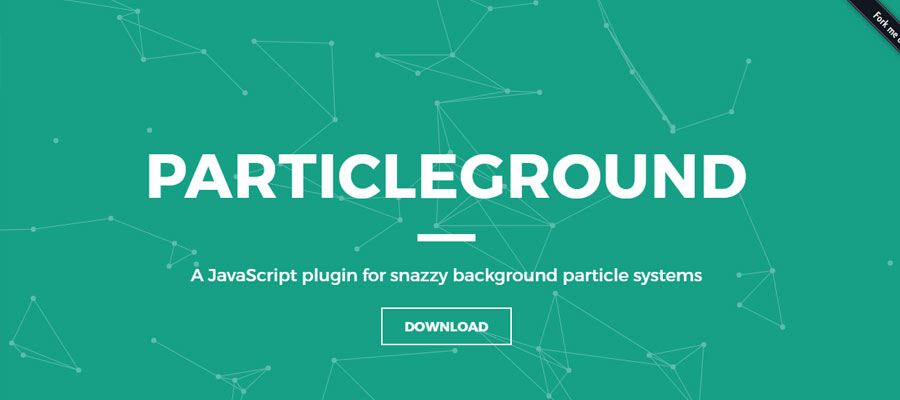 Particleground – Particle backgrounds with jQuery