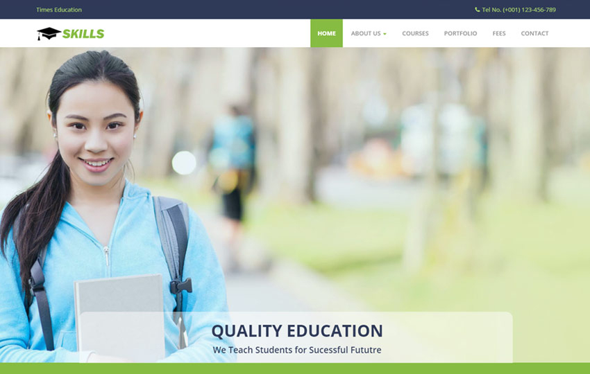 Skills Best Education Bootstrap HTML Website Template