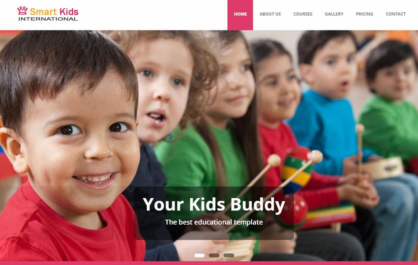 Smart Kids School Education Free Bootstrap Web Template