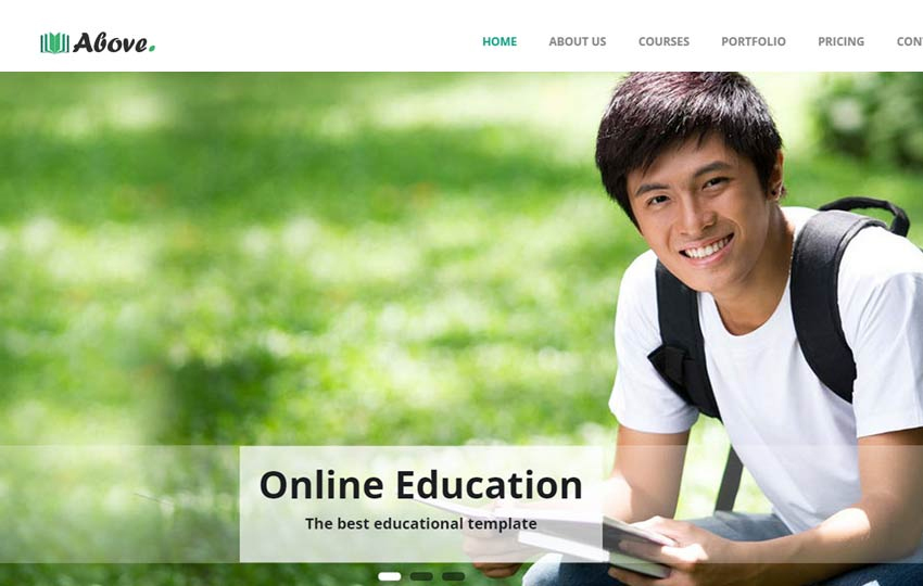 Above Educational Bootstrap Responsive Template