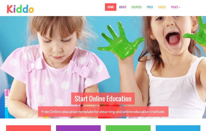 Kiddo School Website Template