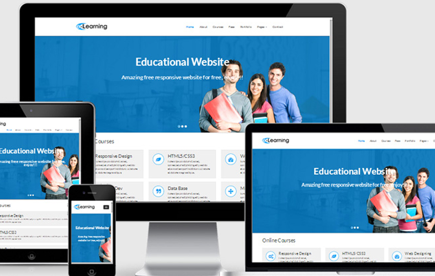 eLearning Free Educational Responsive Web Template