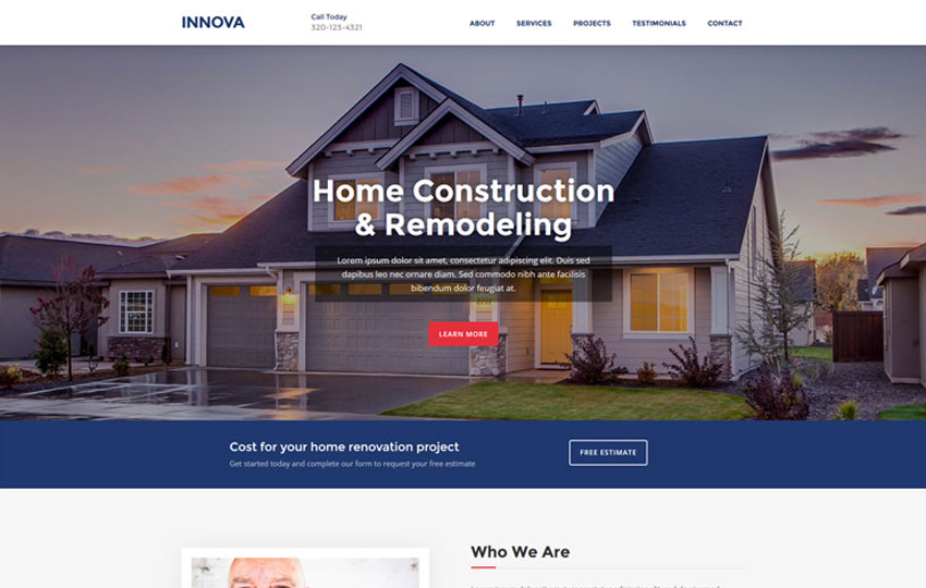 Innova - Free Construction Website Template