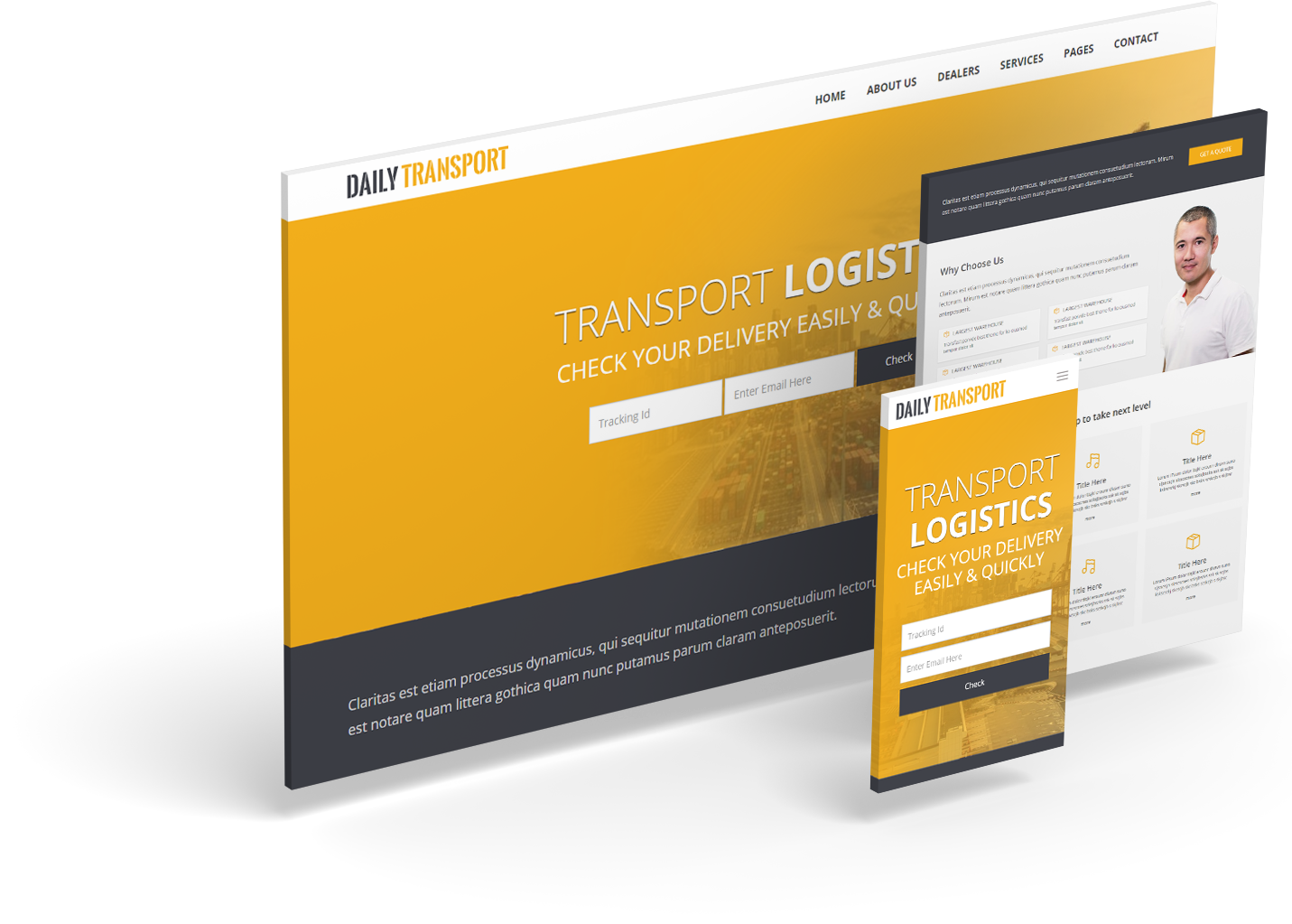Daily Transport Free  Html5 Bootstrap Template