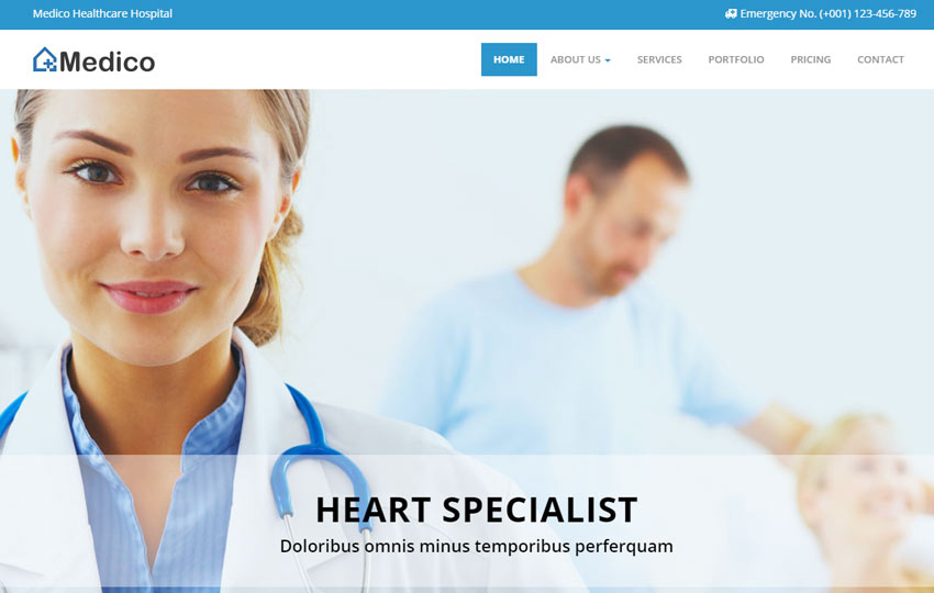 Medico Responsive Medical And Health Bootstrap HTML5 Template