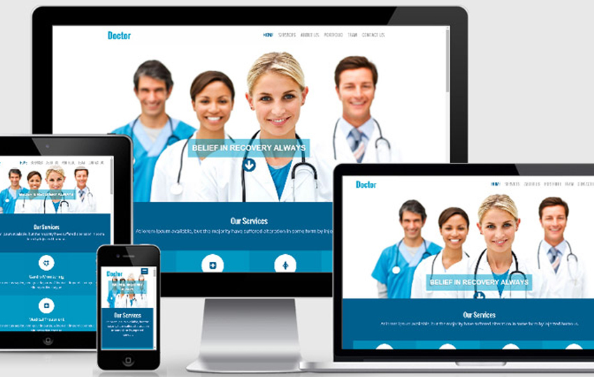 Doctor Free Responsive Website Template