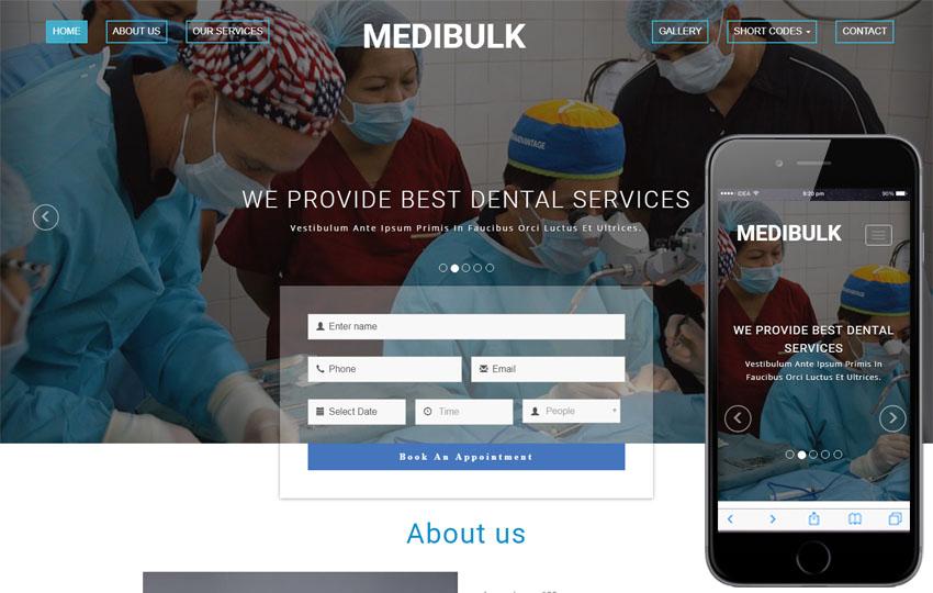 Medibulk Medical Category Bootstrap Responsive Web Template