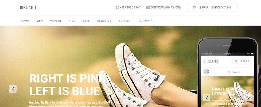 Biruang HTML Template