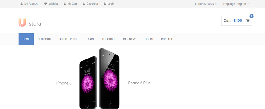Ustora HTML5 eCommerce Template