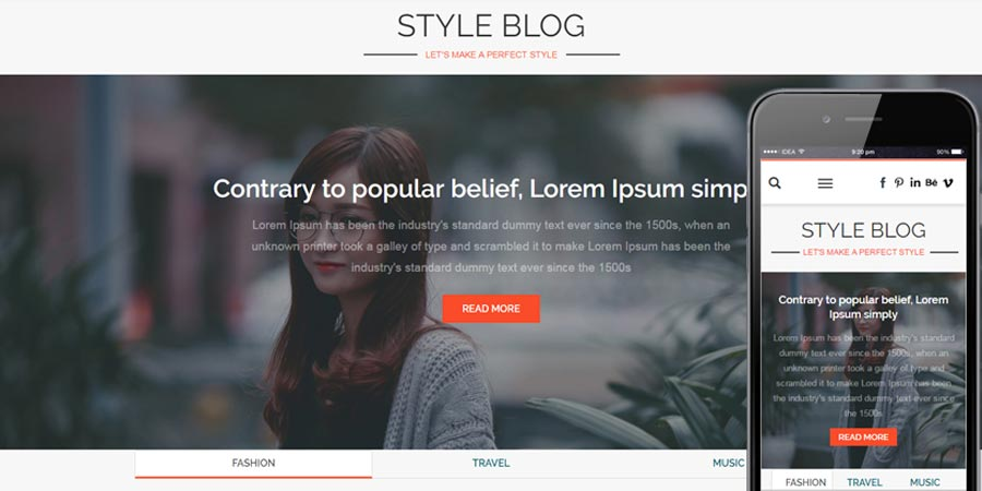 Style Blog Bootstrap Responsive Web Template