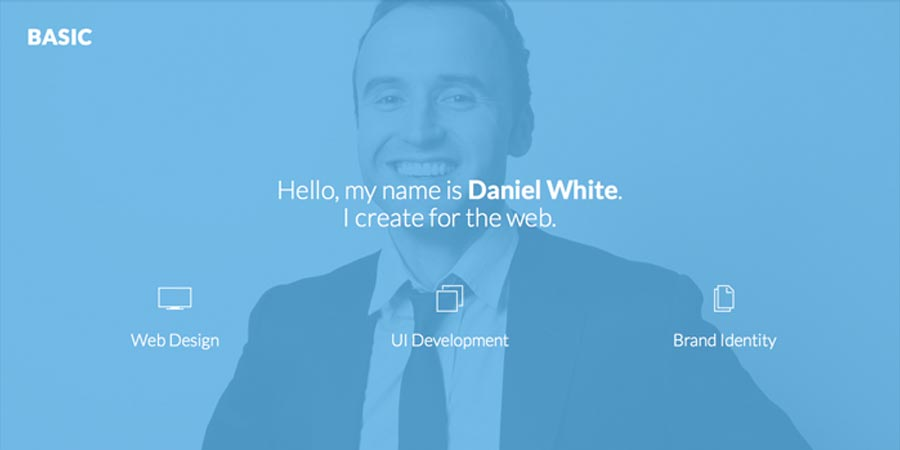 Basic – Free Responsive Personal Portfolio Website Template
