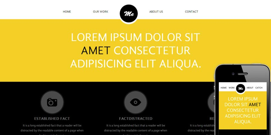 Me personal portfolio Mobile Website Template