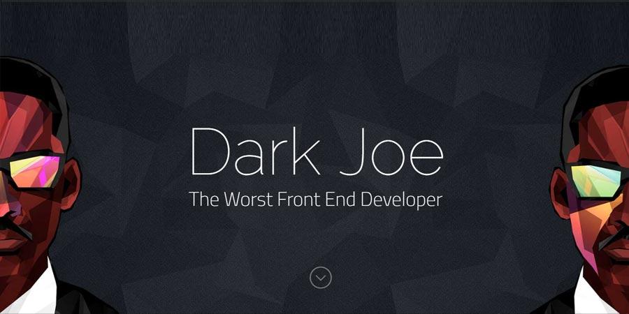 DarkJoe – Free Responsive Personal Portfolio Template