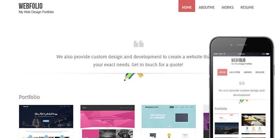 Webfolio – A Flat Responsive website template