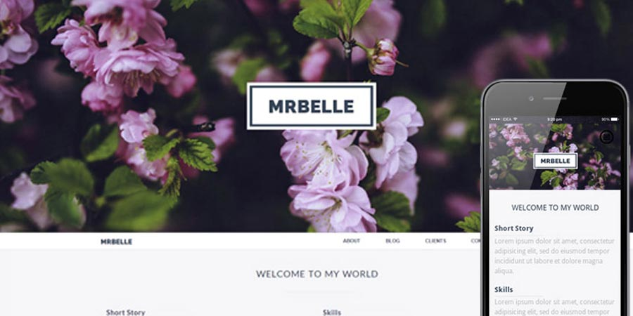 Mr Belle a Singlepage Multipurpose Website Template