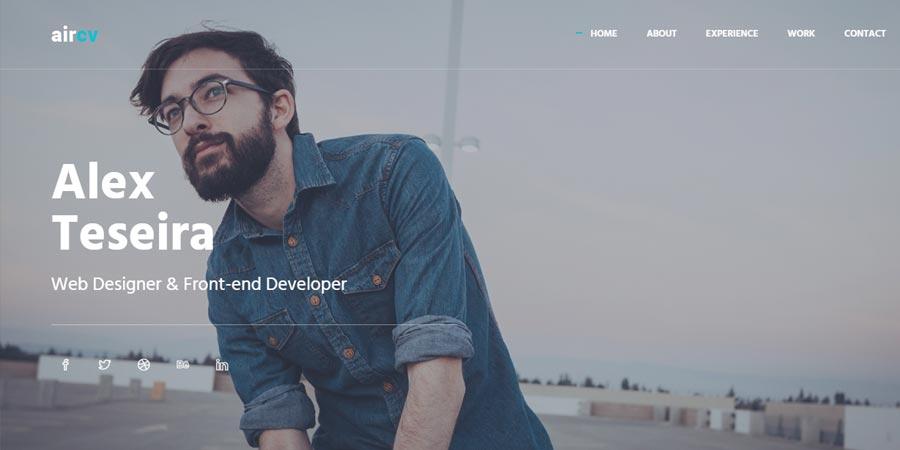 Aircv – Free Responsive Personal Portfolio Website Template