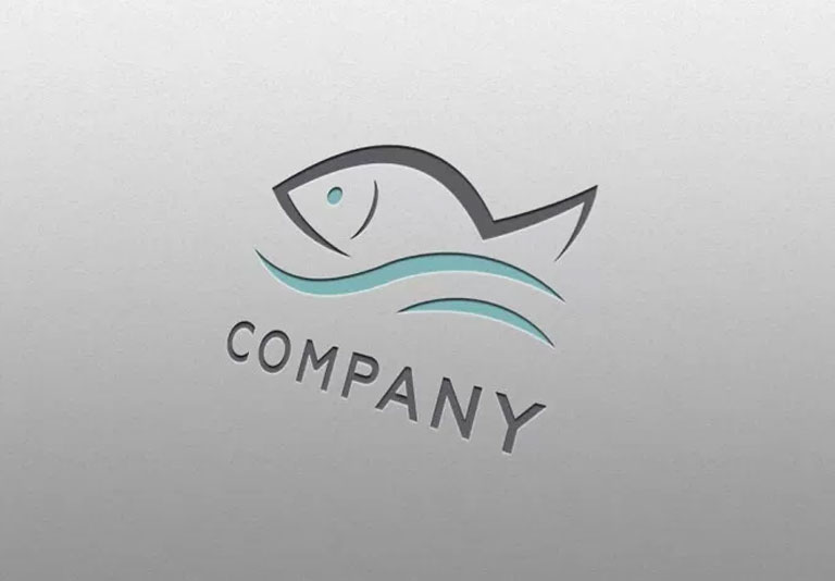 Fish Logo Mockup Template