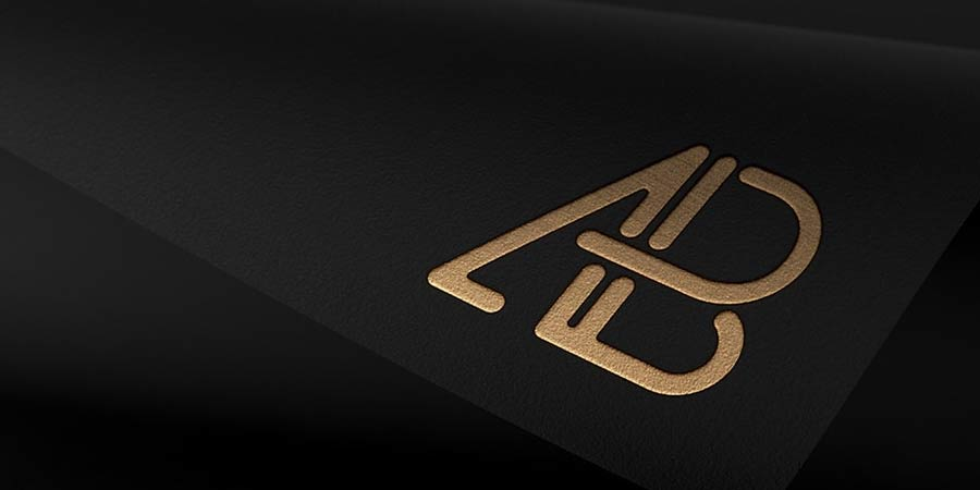 Customizable Foil Logo Mockup