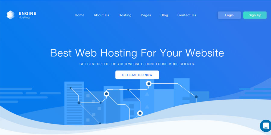 Engine Hosting - HTML Template