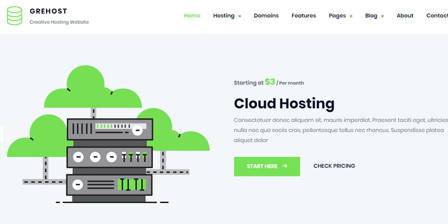 GREHOST - Responsive Web Hosting Template
