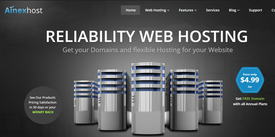 Ainex Host - Responsive Hosting HTML5 Template
