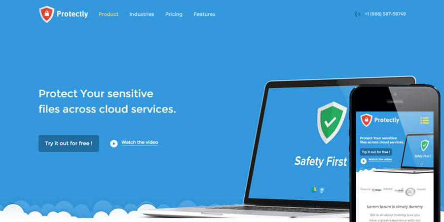 Protectly a Web Hosting Bootstrap Web Template