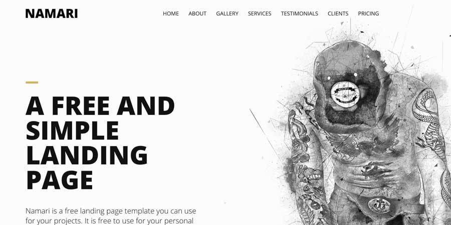 Namari One Page HTML Template