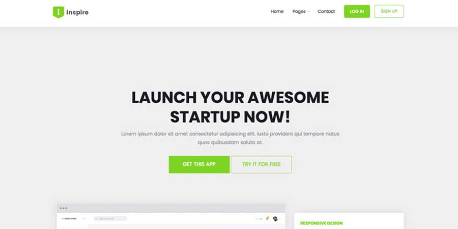 Inspire – Landing Page Bootstrap Website Template