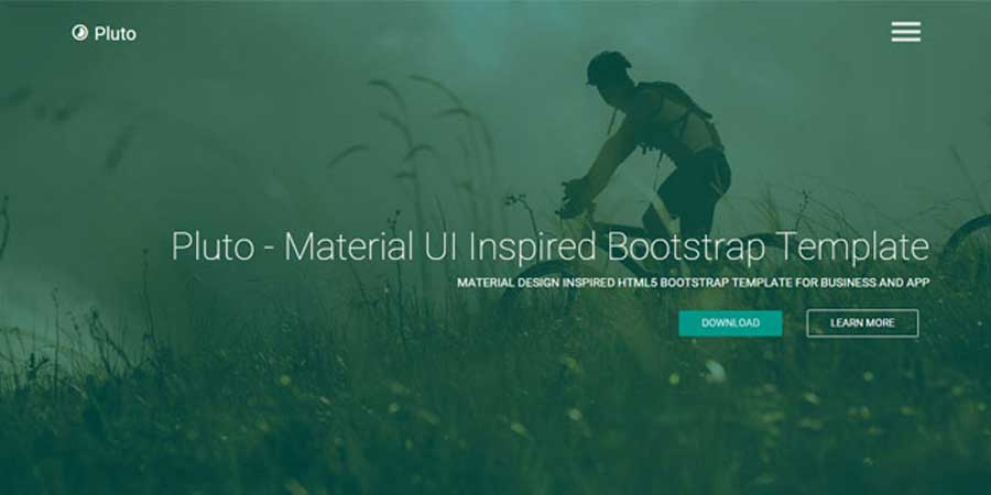 Pluto - Material UI Inspired Bootstrap Template