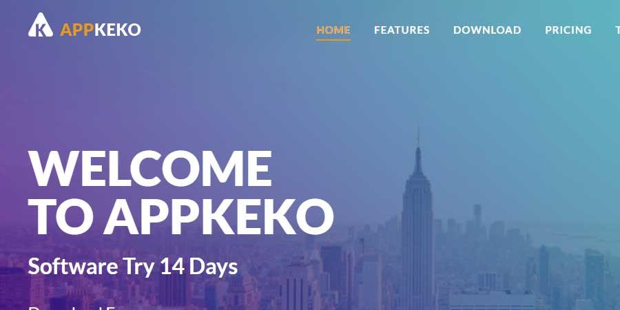 APPKEKO - App Landing Page HTML Template