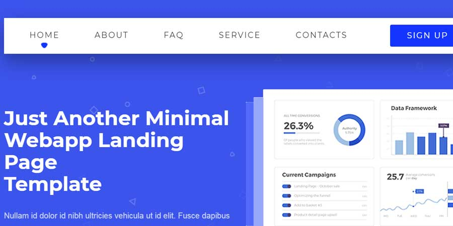 Weby | WebApp Landing Page