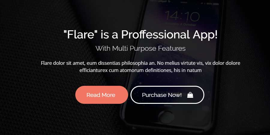 Flare - HTML Startup Landing Page Template