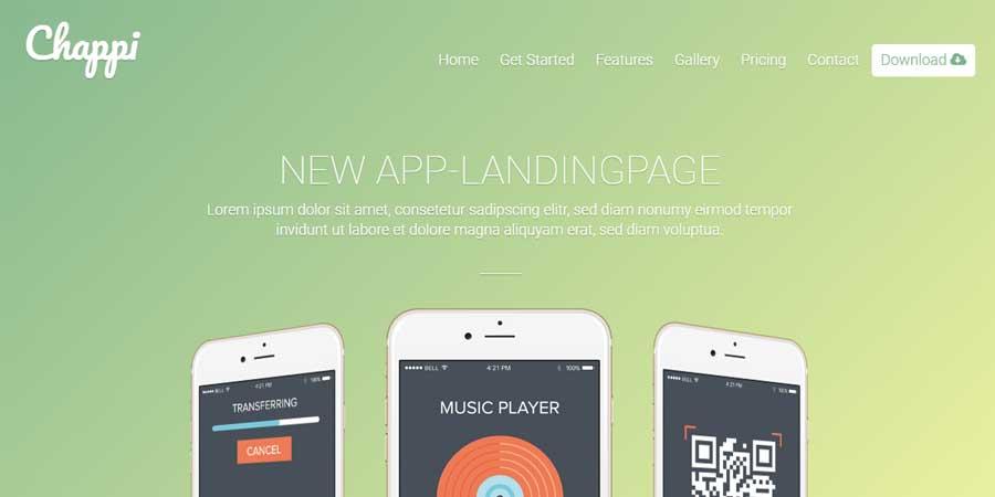 Chappi - Responsive App Landing Page