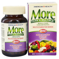 American Health, More Than A Multiple, Multivitamin for Women - 90 Tablets