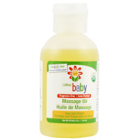 Lafe's Natural Body Care, Baby, Massage Oil, Fragrance Free - 4 oz (118 ml)