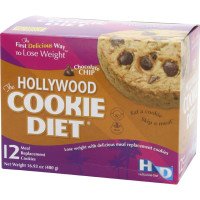 Hollywood Diet, Meal Replacement Cookies, Chocolate Chip, 12 Packs - 16.93 oz (480 g)